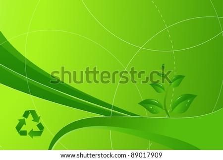 Eco green modern background