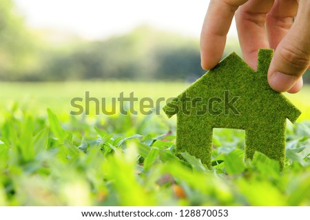 eco house icon concept