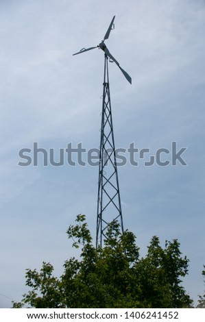 Eco Power. Wind Turbines Generating Electricity. #1406241452