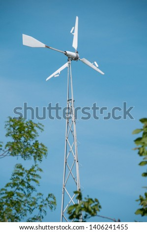 Eco Power. Wind Turbines Generating Electricity. #1406241455