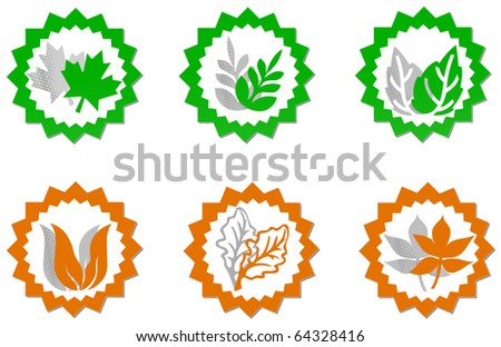 Eco symbols - stock photo