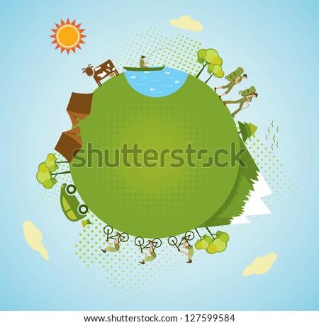 Eco tourism.