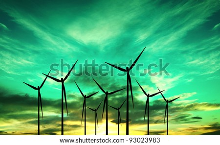 Eco Wind Power - stock photo