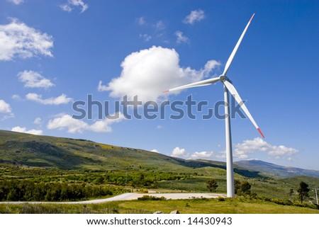 ecologic eolic generator over mountain