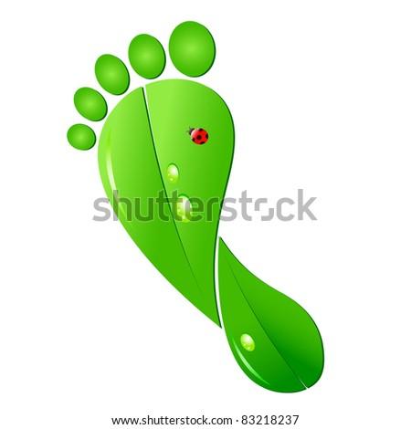 Ecologic footprint - stock photo