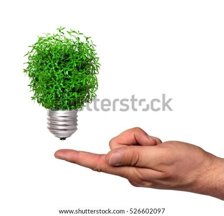 ecological concept, symbolizing renewable energy, bio energy #526602097