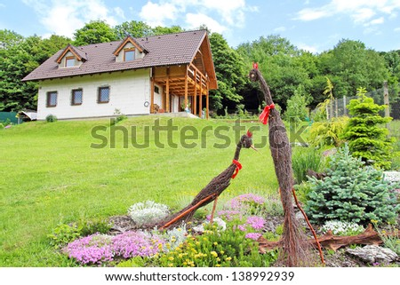 ecological house in nature