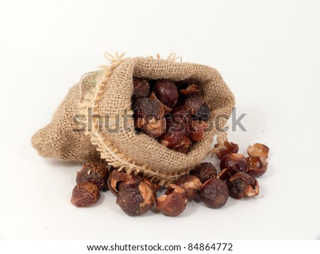 ecologically clean by washing nuts