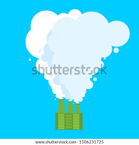 Ecologically clean plant. Clean smoke. Favorable factory