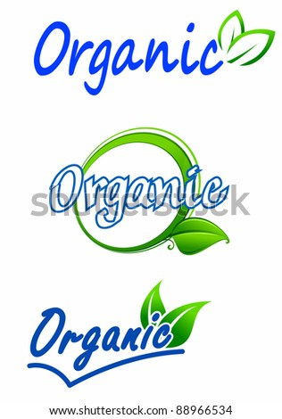 Ecology and nature symbols for food and environment design, such a logo. Vector version also available in gallery