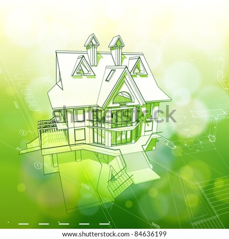 Ecology architecture design house plans green bokeh for Copy architectural plans