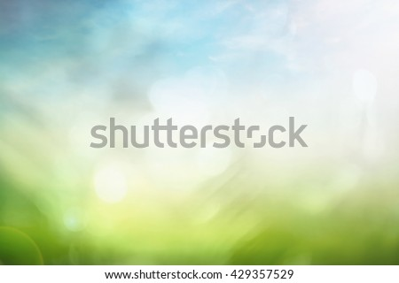Ecology concept: Abstract blurred beautiful nature background. #429357529