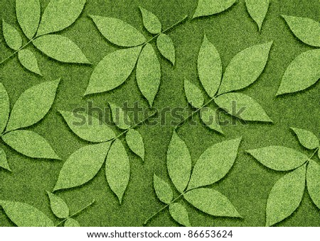 ecology concept, Green leaves created from grassland.