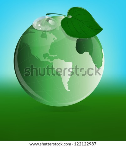 Ecology concept.Green planet