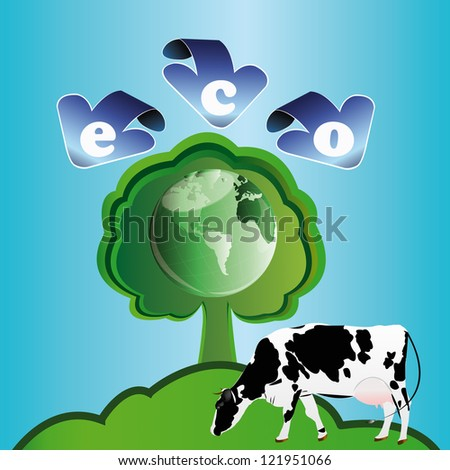 Ecology concept.Healthy food and drink - stock photo