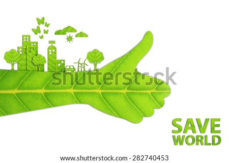 ecology concept made from green ...