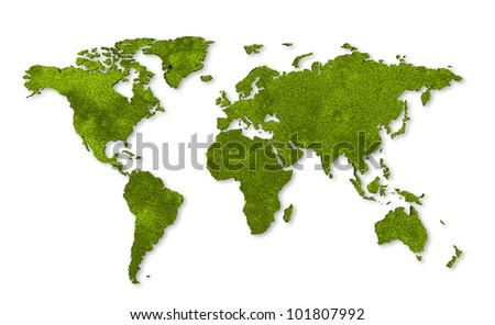ecology world map, grass design