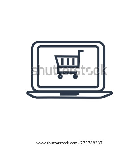Ecommerce icon. Isolated online shopping and ecommerce icon line style. Premium quality shopping symbol drawing ecommerce concept for your logo web mobile app UI design.
