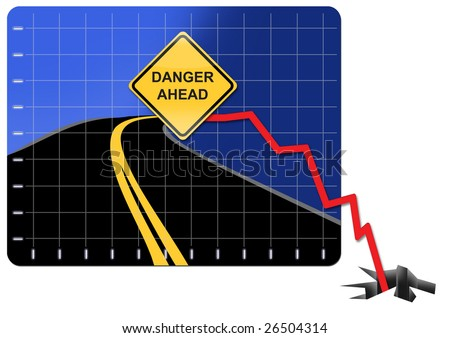 representing the economic crisis and financial collapse - stock photo
