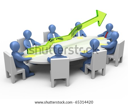 Economic results of the company. Success of the company. Working meeting.