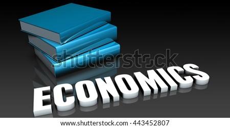 Economics Class for School Education as Concept 3d Illustration Render