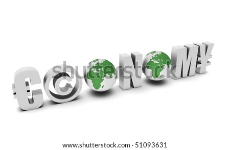 Economy Global Concept in 3d of a Country