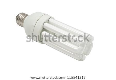 Economy lamp isolated on white background