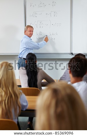 Economy study course with teacher in university