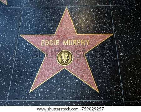 Eddie Murphy's Star, Hollywood Walk of Fame - August 11th, 2017 - Hollywood Boulevard, Los Angeles, California, CA, USA