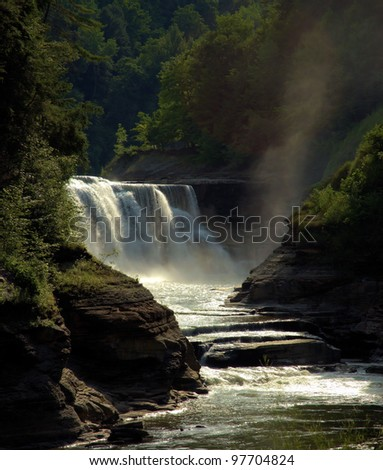 Eden:  The Lower Falls on the Genesee River located in the Letchworth State Park, about 35 miles southwest of Rochester, NY