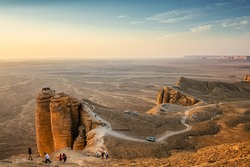 Edge of the World, a natural landmark and popular tourist destination near Riyadh -Saudi Arabia.