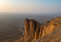 Edge of the World escarpment tourist area near Riyadh, Saudi Arabia