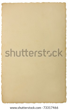 Edge Photo Back Vintage Background Texture, Isolated Reverse Side