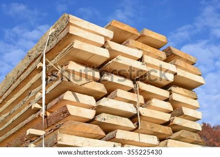 Edging board in stacks #355225430