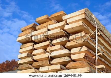 Edging board in stacks #369445199