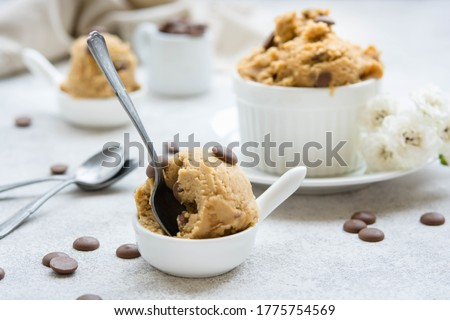 Edible Cookie Dough with Chocolate Chips Stock photo ©