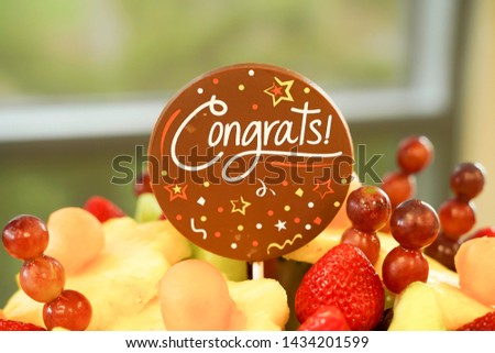 Edible Fruit basket arrangement with a variety of fruits #1434201599