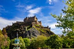 Edinburgh Castle on a sunny summer day