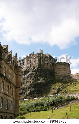 Edinburgh castle, one of the most tourists attract places in Edinburgh, UK