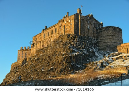 Edinburgh Castle, Scotland, UK, late on a winter afternoon