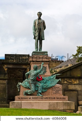 Edinburgh Civil War Memorial in the old cemetery, Edinburgh, Scotland