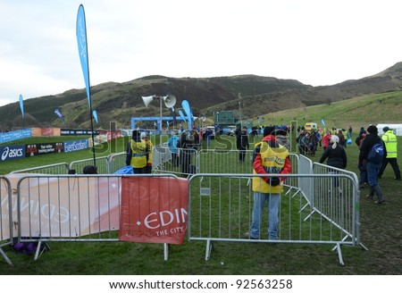 EDINBURGH - JANUARY 7: the site of the BUPA Great Edinburgh Cross Country Championships on January 7, 2012 in Holyrood Park, Edinburgh, Scotland.