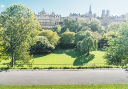 Edinburgh, Scotland from Princess Street Gardens, UK