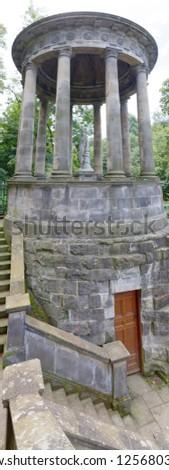 Edinburgh, Scotland, UK - August 5: St. Bernard's Well sits along the Water of Leith near Dean Village. #1256803747
