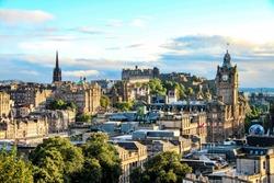Edinburgh skyline as seen from Calton Hill, Scotland