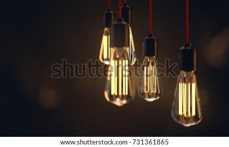 Edison light bulbs (3D Rendering)
