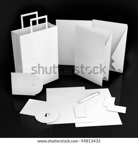 Editable corporate Identity template - stock photo