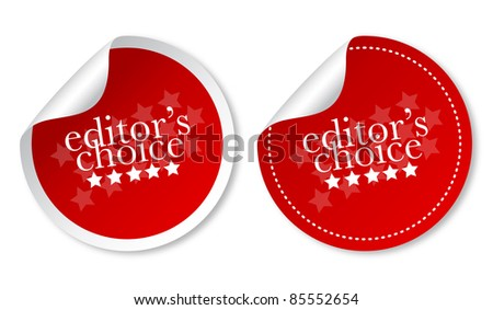Editor's choice sticker