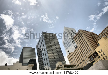 Editorial: Houston Skyline(Release Information: Editorial Use Only. Use of this image in advertising or for promotional purposes is prohibited.)