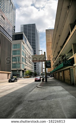 Editorial Use Only: Houston City Street (Release Information: Editorial Use Only. Use of this image in advertising or for promotional purposes is prohibited.)